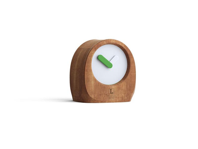 zegar z zieloną wskazówką